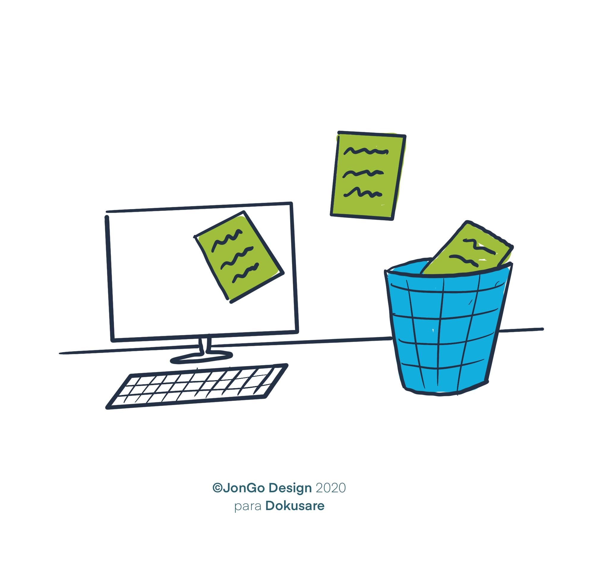documentos reciclandose